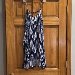 Blue & White Ikat Dress